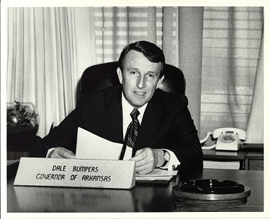 Governor Dale Bumpers at his desk © Special Collections, University of Arkansas Libraries, Fayetteville