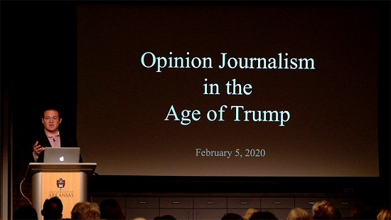 Pryor Center Presents Alex Kingsbury - Opinion Journalism in the Age of Trump © Pryor Center for Arkansas Oral and Visual History, University of Arkansas