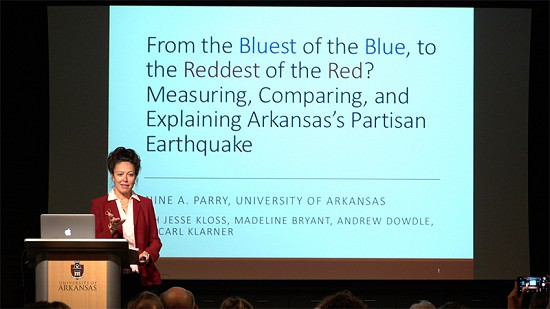 Pryor Center Presents Janine A. Parry - From Blue to Red: Measuring, Comparing, and Explaining Arkansas's Partisan Earthquake © Pryor Center for Arkansas Oral and Visual History, University of Arkansas