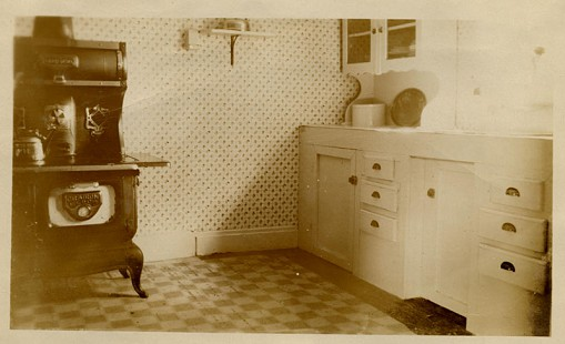 Kitchen after renovation, ca. 1929, from the Kilkare Home Demonstration scrapbook; Blanche Hanks Elliott Papers MC1272 © Pryor Center for Arkansas Oral and Visual History, University of Arkansas