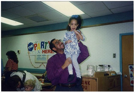 Gerald Alley with his daughter at a party © Pryor Center for Arkansas Oral and Visual History, University of Arkansas