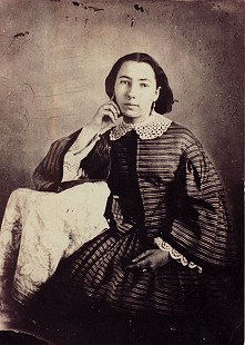 Temperance Lucinda Arnold, great-grandmother of Morris Arnold, at age 17; 1856 © Pryor Center for Arkansas Oral and Visual History, University of Arkansas