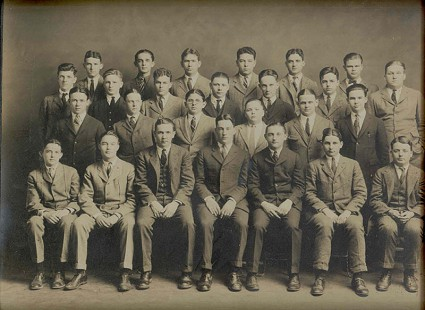 Southern Club, Richard Lewis Arnold, 3rd row from bottom, next to last, ca. 1924-25 © Pryor Center for Arkansas Oral and Visual History, University of Arkansas