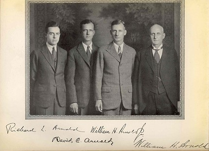 Arnold law firm: Richard, William Jr., David, and William Sr., ca. 1923 © Pryor Center for Arkansas Oral and Visual History, University of Arkansas
