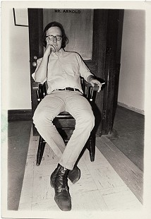 Morris Arnold in Harvard office © Pryor Center for Arkansas Oral and Visual History, University of Arkansas
