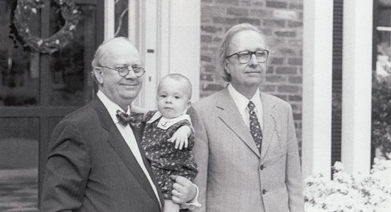 From left: Richard Arnold, Richard's granddaughter, and Morris Arnold, 1988 © Pryor Center for Arkansas Oral and Visual History, University of Arkansas