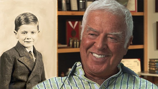 Composite image of early photo of Jim Blair and still frame from Pryor Center video interview © Pryor Center for Arkansas Oral and Visual History, University of Arkansas
