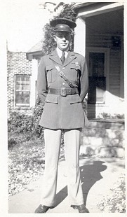 Joe Blair, father of Jim Blair, in military uniform, Fayetteville, Arkansas © Pryor Center for Arkansas Oral and Visual History, University of Arkansas
