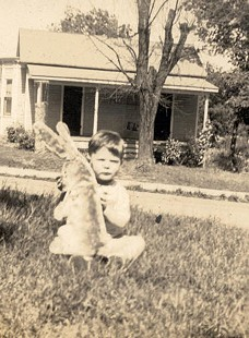 Jim Blair as a toddler with a stuffed rabbit, 1937 © Pryor Center for Arkansas Oral and Visual History, University of Arkansas