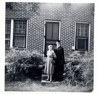Graduation day photo of Jim Blair with his grandmother, Bessie Blair © Pryor Center for Arkansas Oral and Visual History, University of Arkansas