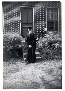 Jim Blair in graduation cap and gown © Pryor Center for Arkansas Oral and Visual History, University of Arkansas
