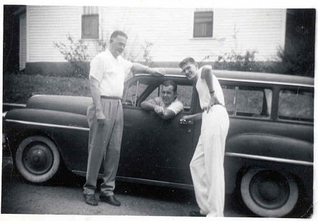 Joe, Hugh, and Jim Blair with 1950 Plymouth; 1955 © Pryor Center for Arkansas Oral and Visual History, University of Arkansas