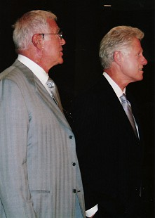 Jim Blair and Bill Clinton, 2005 © Pryor Center for Arkansas Oral and Visual History, University of Arkansas