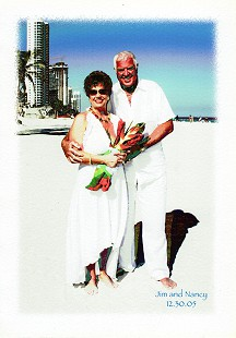 Jim and Nancy Blair wedding announcement in Sunny Isles, Florida; December 30, 2005 © Pryor Center for Arkansas Oral and Visual History, University of Arkansas