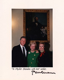 Phyllis Brandon with Bill and Hillary Clinton, November 1993 © Pryor Center for Arkansas Oral and Visual History, University of Arkansas