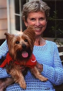 Phyllis Brandon with her dog, Jake © Pryor Center for Arkansas Oral and Visual History, University of Arkansas