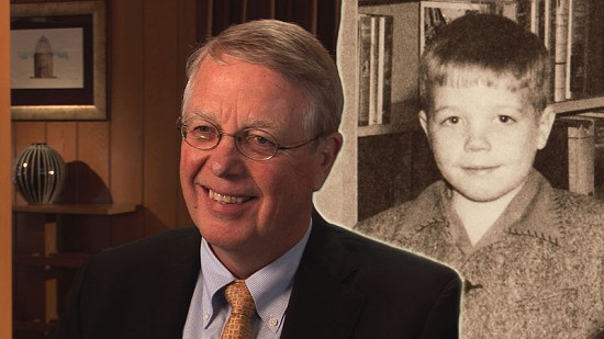 Composite image of early photo of Robert L. Brown and still frame from Pryor Center video interview © Pryor Center for Arkansas Oral and Visual History, University of Arkansas