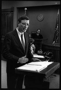 Robert L. Brown in court  © Pryor Center for Arkansas Oral and Visual History, University of Arkansas