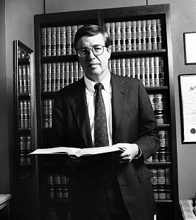 Robert L. Brown in his office                        © Pryor Center for Arkansas Oral and Visual History, University of Arkansas