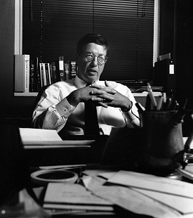 Robert L. Brown at his desk                      © Pryor Center for Arkansas Oral and Visual History, University of Arkansas