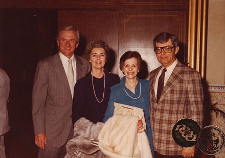 Frank and Barbara Broyles with Al Witte (far right) © Pryor Center for Arkansas Oral and Visual History, University of Arkansas