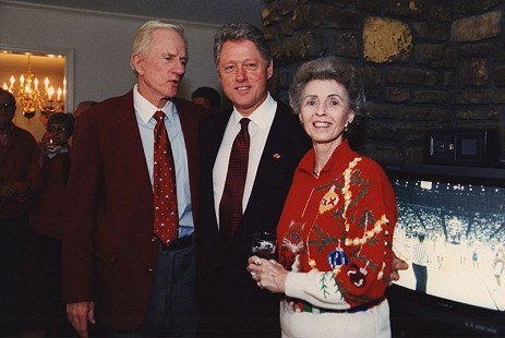 Frank Broyles, Bill Clinton, and Barbara Broyles © Pryor Center for Arkansas Oral and Visual History, University of Arkansas