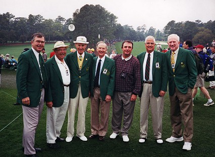 Frank Broyles (far right) at the Masters Tournament © Pryor Center for Arkansas Oral and Visual History, University of Arkansas
