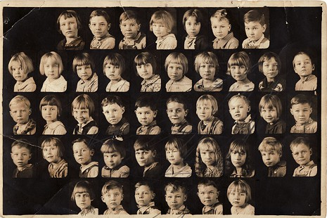 Picture of Betty Flanagan's first-grade class, Branch School, taught by Miss Erma Chastain; Betty Flanagan (2nd row from top, 3rd from right); Branch, Arkansas © Pryor Center for Arkansas Oral and Visual History, University of Arkansas
