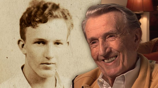 Composite image of early photo of Dale Bumpers and still frame from Pryor Center video interview © Pryor Center for Arkansas Oral and Visual History, University of Arkansas
