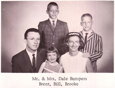 Bumpers family photo for the directory of the First Methodist Church; Charleston, Arkansas, 1964 © Pryor Center for Arkansas Oral and Visual History, University of Arkansas