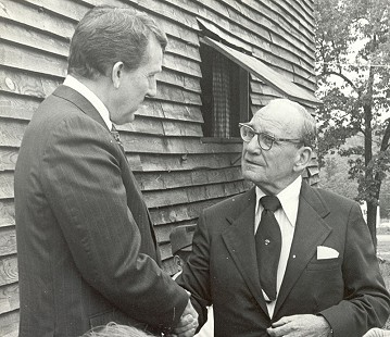 Governor Dale Bumpers with Senator John McClellan, 1972 © Pryor Center for Arkansas Oral and Visual History, University of Arkansas