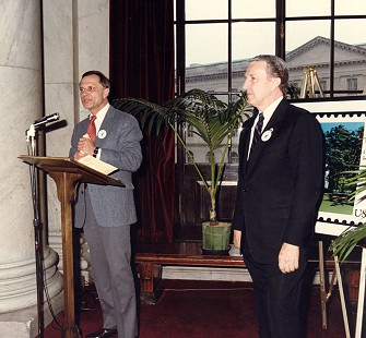 Senator Dale Bumpers (right) with Senator David Pryor at an event in Washington, DC, 1986 © Pryor Center for Arkansas Oral and Visual History, University of Arkansas