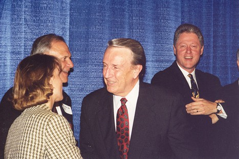 Senator Dale Bumpers (center) with Representative Blanche Lincoln, Senator David Pryor, and President Bill Clinton; 1996 © Pryor Center for Arkansas Oral and Visual History, University of Arkansas