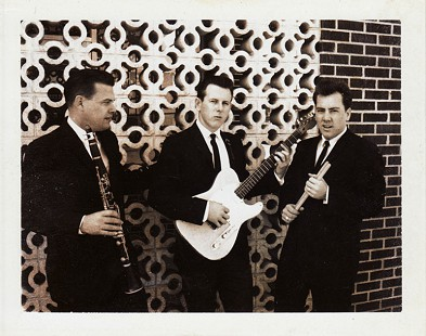 Ed Burks, C.W. Gatlin, and Jerry Nolan of Eddy and the Storms; publicity photo to promote the ARKLA Gas Show at the Catholic Club in Helena, Arkansas, February 1966 © Pryor Center for Arkansas Oral and Visual History, University of Arkansas