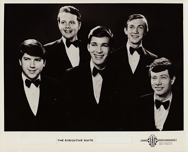 Ed Burks (top row, left); publicity photo of his band, The Executive Suite © Pryor Center for Arkansas Oral and Visual History, University of Arkansas