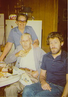Terry Cagle's maternal grandmother, Nell Helm, with her father, Wheeler Wilson, and son, Levon Helm © Pryor Center for Arkansas Oral and Visual History, University of Arkansas