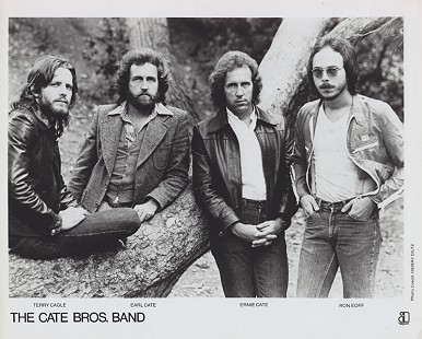 The Cate Bros. Band publicity photo: Terry Cagle, Earl Cate, Ernie Cate, and Ron Eoff © Pryor Center for Arkansas Oral and Visual History, University of Arkansas