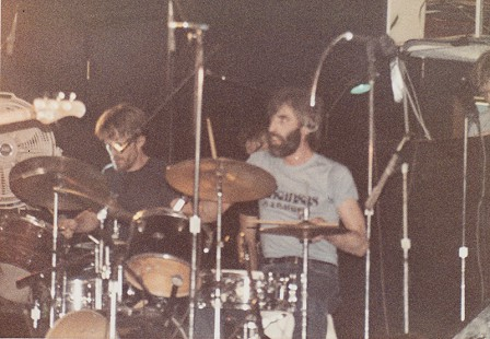 Terry Cagle plays with Richard Manuel of The Band, 1983 © Pryor Center for Arkansas Oral and Visual History, University of Arkansas
