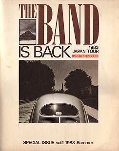 <i>The Band is Back</i> tour book for The Band's 1983 Japan tour © Pryor Center for Arkansas Oral and Visual History, University of Arkansas