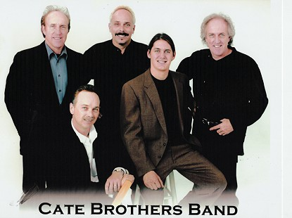 Cate Brothers Band: (from left) Ernie Cate, Micky Eoff, Ron Eoff, David Renko, and Earl Cate © Pryor Center for Arkansas Oral and Visual History, University of Arkansas