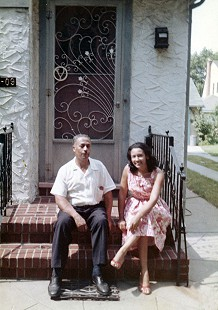 Margaret Clark with her father, Ellis Sirmans © Pryor Center for Arkansas Oral and Visual History, University of Arkansas