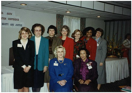Margaret Clark (seated on right) with AAUW members © Pryor Center for Arkansas Oral and Visual History, University of Arkansas