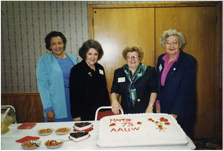 Margaret Clark (left) with friends at AAUW's Seventy-Fifth Anniversary © Pryor Center for Arkansas Oral and Visual History, University of Arkansas
