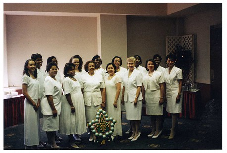 Margaret Clark (4th from left in front row) with Alpha Kappa Alpha members © Pryor Center for Arkansas Oral and Visual History, University of Arkansas