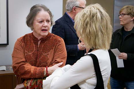 Martha Jr. Conley (right) with Barbara Pryor at the Pryor Center; Fayetteville, Arkansas, 2018 © Pryor Center for Arkansas Oral and Visual History, University of Arkansas