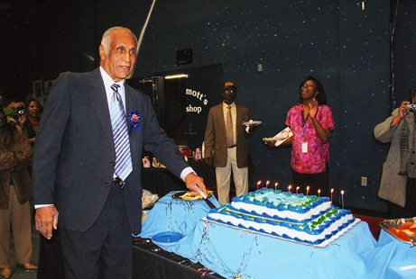 Milton P. Crenchaw on his 90th birthday; 2009                       © Pryor Center for Arkansas Oral and Visual History, University of Arkansas