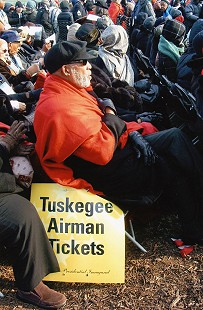 Members of the Tuskegee Airmen seated at Barack Obama's 1st presidential inauguration; Milton P. Crenchaw was among the guests;  January 20, 2009        © Pryor Center for Arkansas Oral and Visual History, University of Arkansas