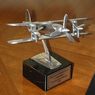 Award honoring Milton P. Crenchaw as a member of the Tuskegee Airmen © Pryor Center for Arkansas Oral and Visual History, University of Arkansas