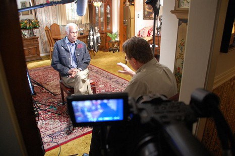 Behind-the-scenes photo from Pryor Center interview with Milton P. Chrenchaw; Little Rock, Arkansas, 2009 © Pryor Center for Arkansas Oral and Visual History, University of Arkansas