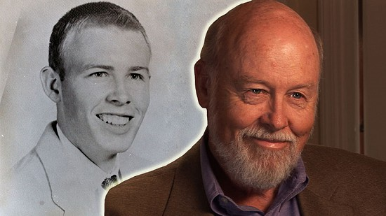 Composite image of early photo of Ernie Dumas and still frame from Pryor Center video interview © Pryor Center for Arkansas Oral and Visual History, University of Arkansas